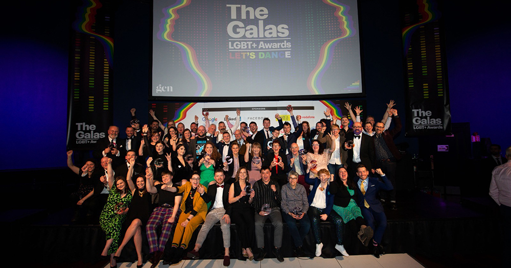 The winner of the 2020 GALAS awards gathered on stage