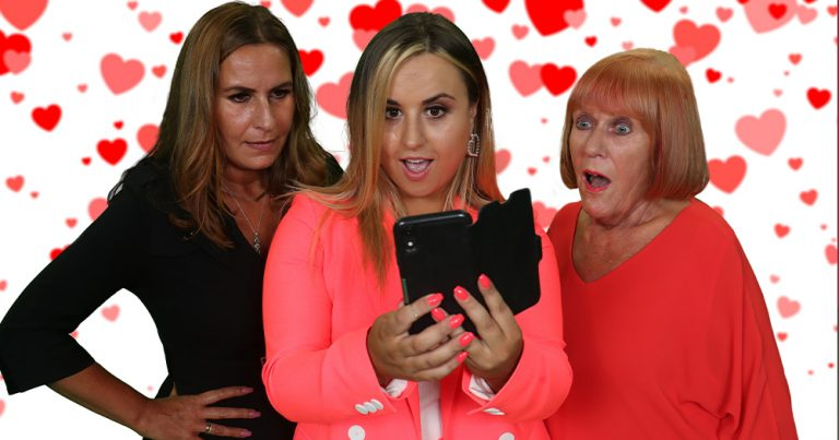 """Press images for RTÉ's """"Pulling with my Parents"""" dating show"""