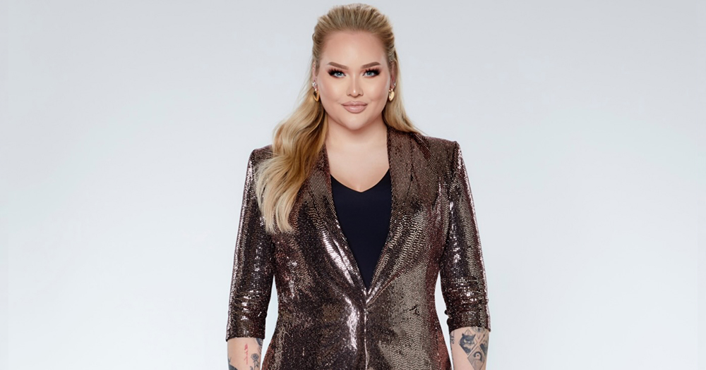 YouTuber Nikkietutorials poses for Eurovision Song Contest announcement