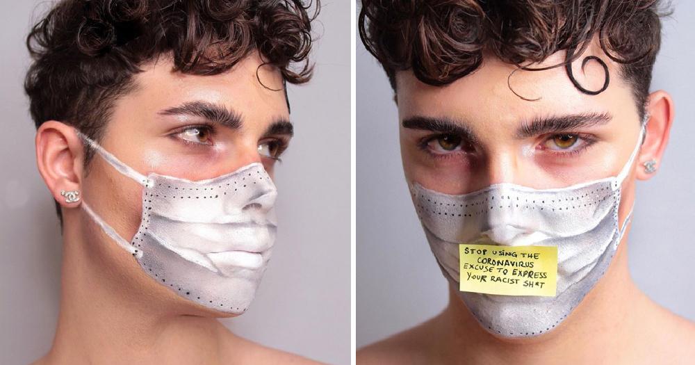 Coronavirus mask look