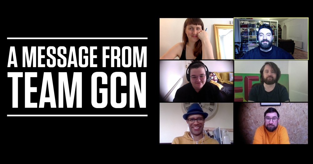 A worded message from the GCN team alongside six thumbnails of different staff members