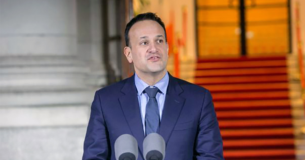 Leo Varadkar during a press conference. Today he announced measure against the coronavirus pandemic
