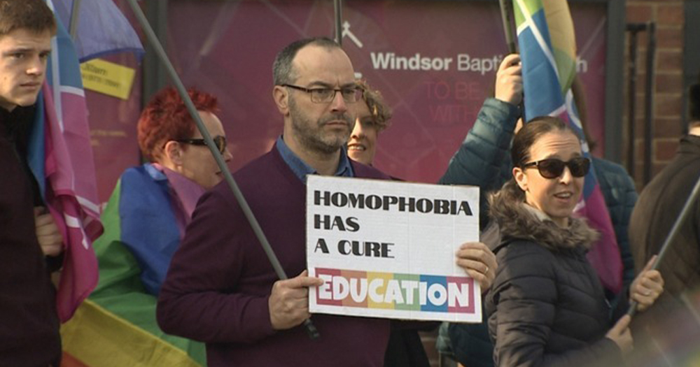 a protest against homophobia