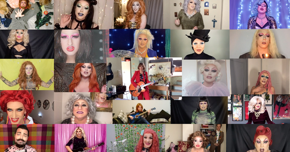 a huge collection of drag queens