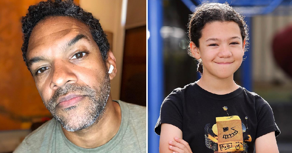 Khary Payton with his son