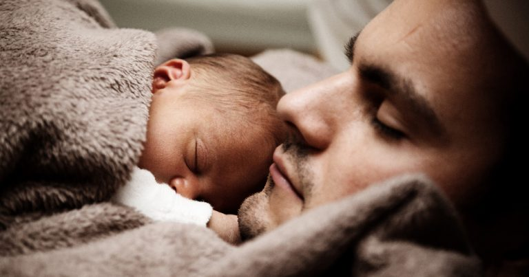 Gay Dad with new born baby