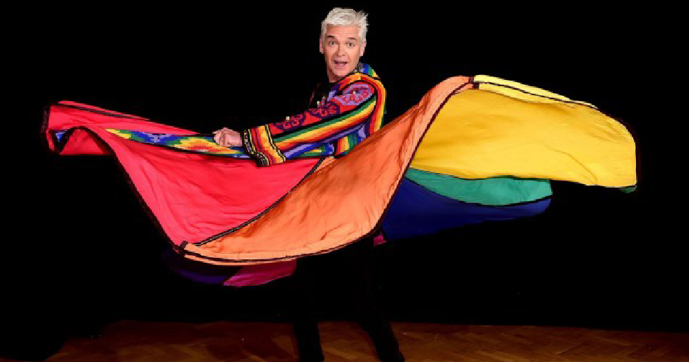 AJ Pritchard wants Schofield on Strictly Philip Schofield in pictured waving a multi coloured cape