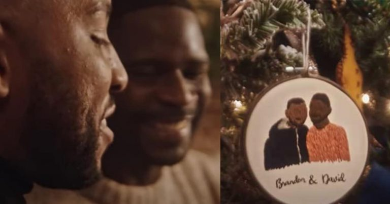 Black gay couple receives present in Christmas commercial