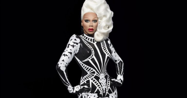 Rupaul in black and white drag, new drag race spin-off