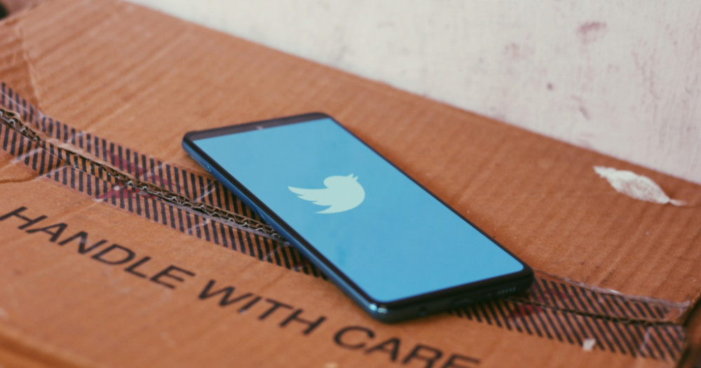 phone with twitter symbol need a laugh
