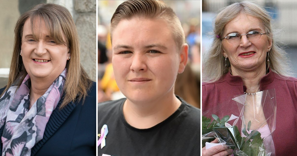 sara r phillips, noah halpin, lydia foy, trans and non binary trailblazers