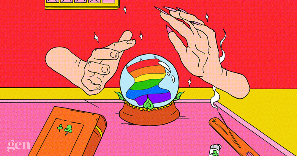 An illustration of a crystal ball