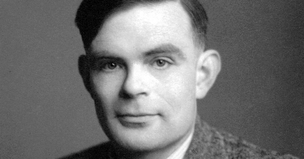 Portrait of Alan Turing: RTÉ Science Week