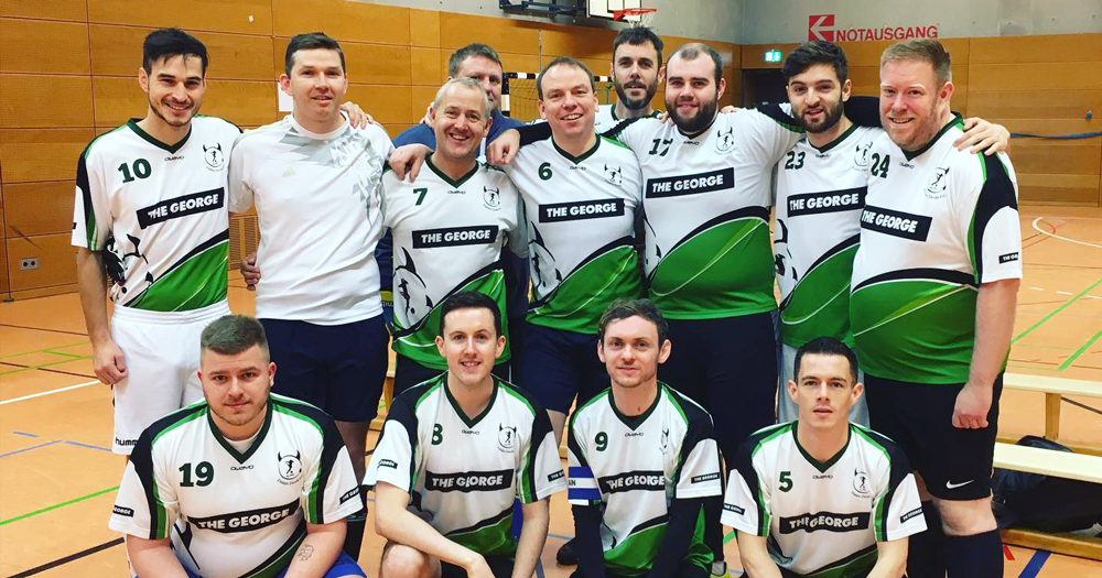 Team members of Dublin Ddevils, which has just partnered with Irish Life