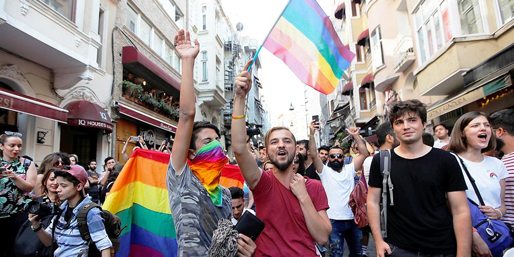 People attending Pride in Turkey