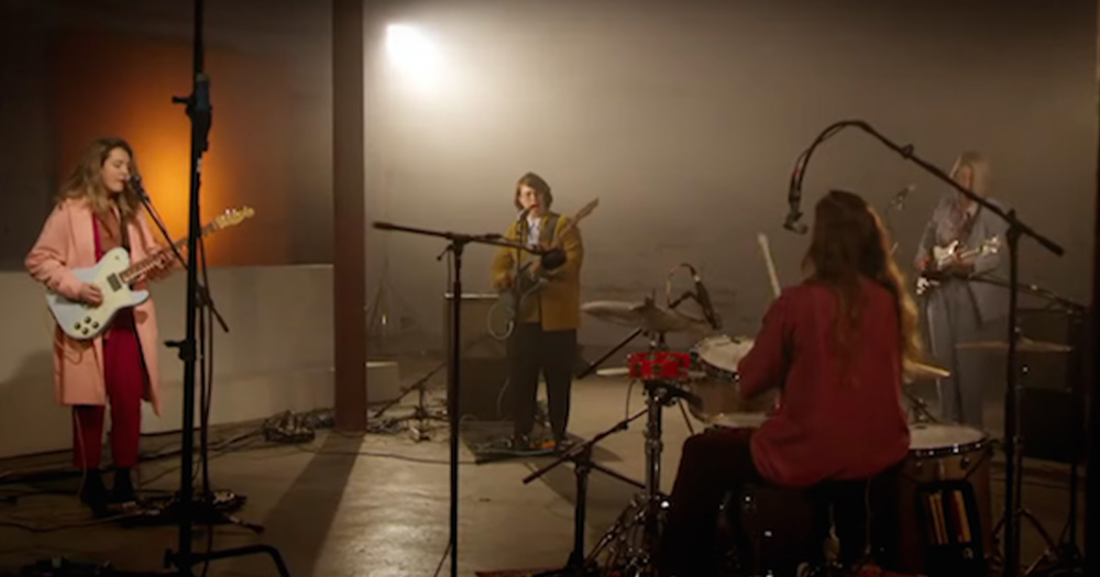 Four women in a band