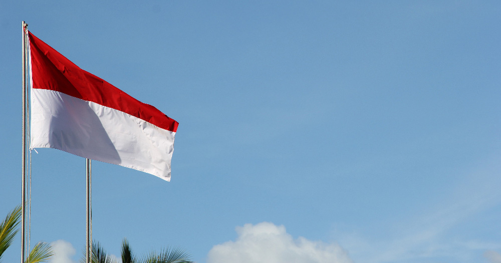 The flag of Indonesia