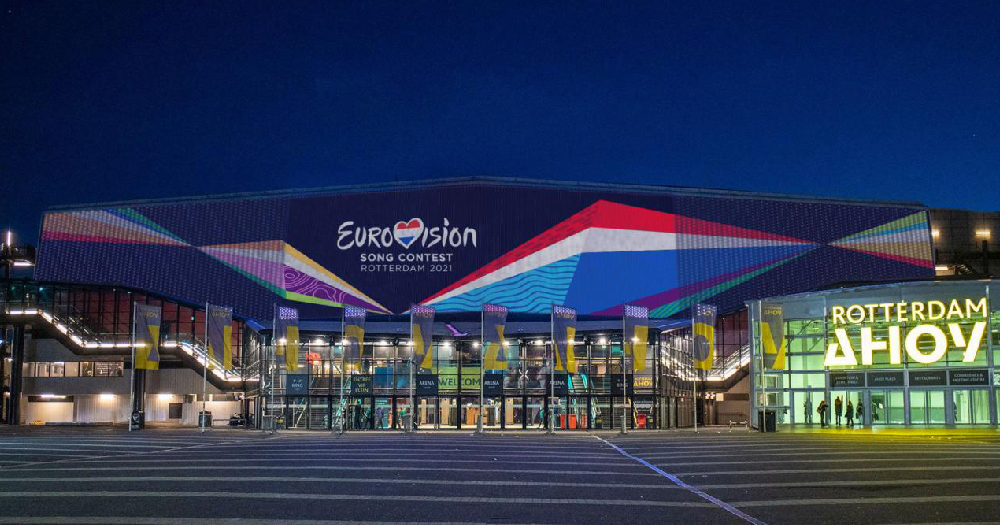 Stadium done up with the Eurovision logo and flags, the contest will return in 2021