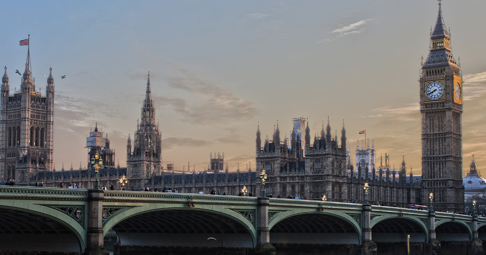 Big Ben and the houses of Parliament in London