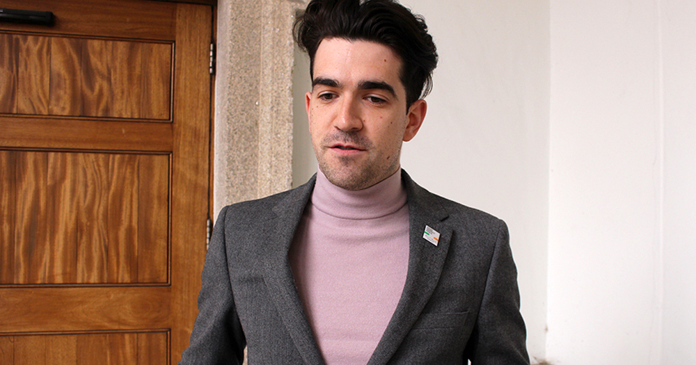 A man in a suit jacket