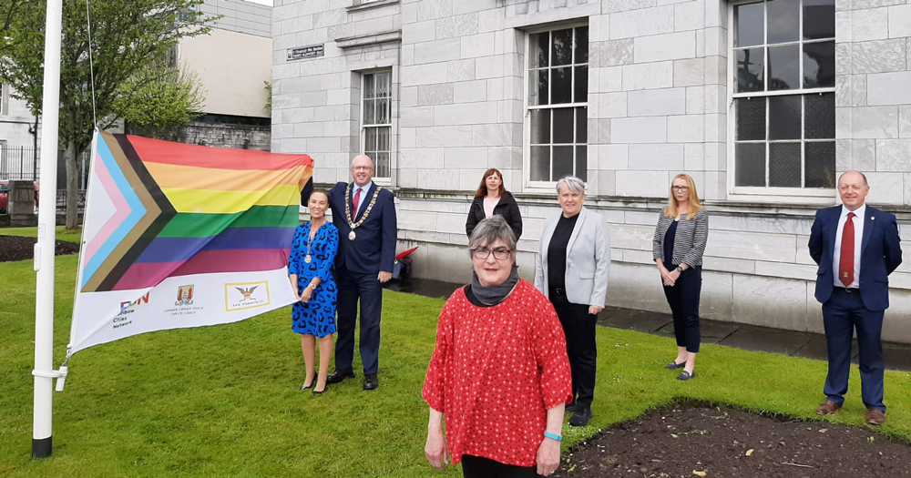 The rainbow flag is flying from Cork city hall to mark its LGBTI+ awareness week