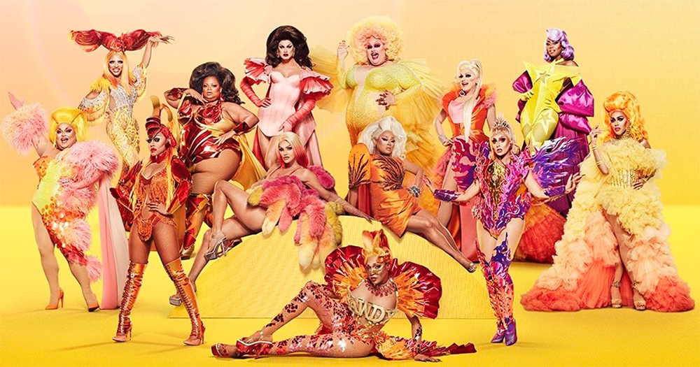 A group of 13 drag queens