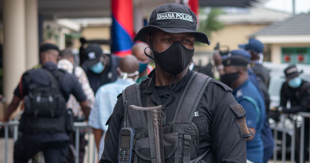A masked heavily armed soldier