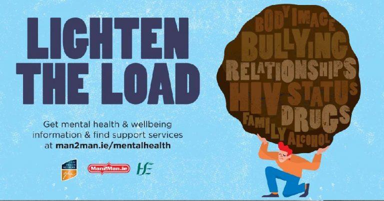Lighten the Load poster for Man2Man website