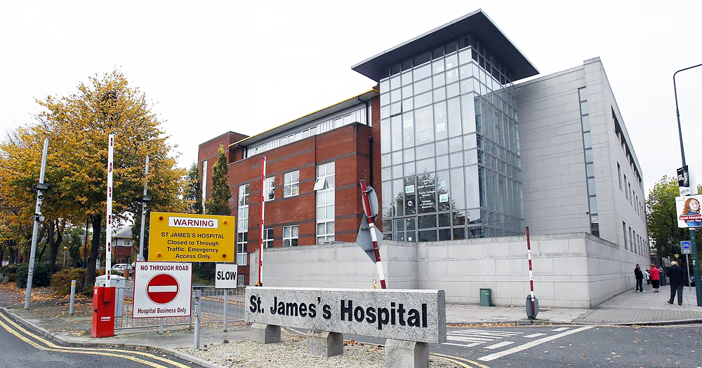 The exterior of a modern hospital building
