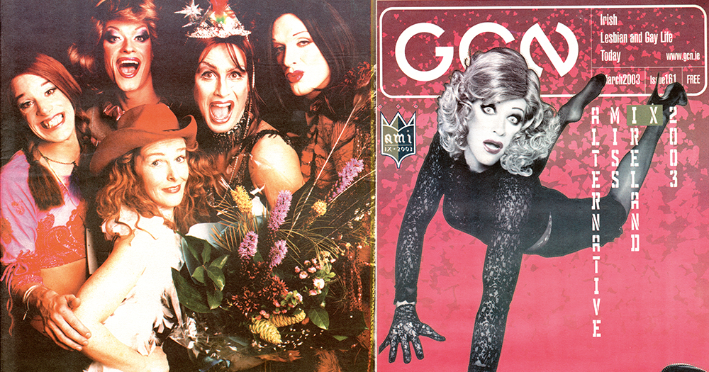 Alternative Miss Ireland posters featuring various drag queens