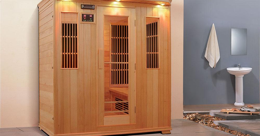 A sauna in a showroom