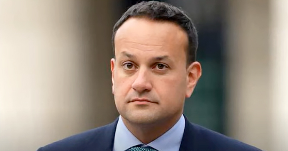 Close up of Leo Varadkar with a neutral expression