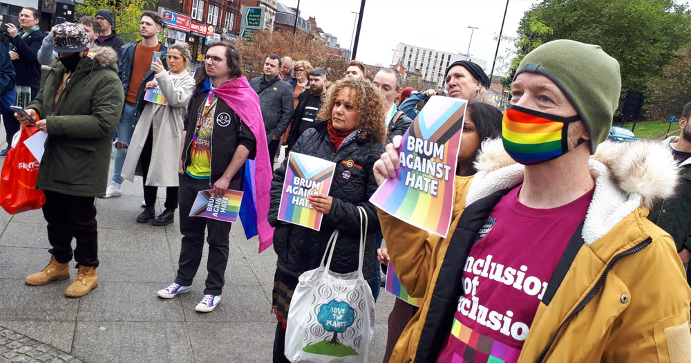 Photo of protests for LGBTQ+ safety in Birmingham
