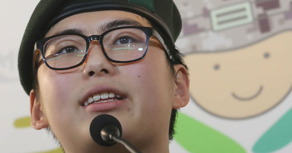 Close up of Byun Hee-soo, who served the first Trans soldier in the South Korean military