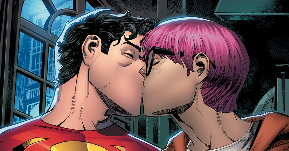 New Superman Jon Kent kisses reporter Jay Nakamura, as DC Comics announce the superhero is bisexual.