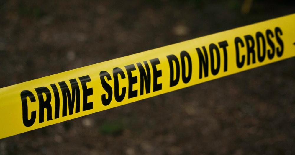 Crime scene tape, as found at a murder scene