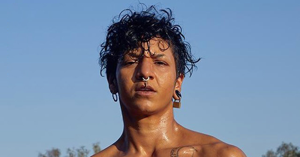 Close up of trans man with multiple piercings. Trans men will be included in Mr Gay World following a recent policy change