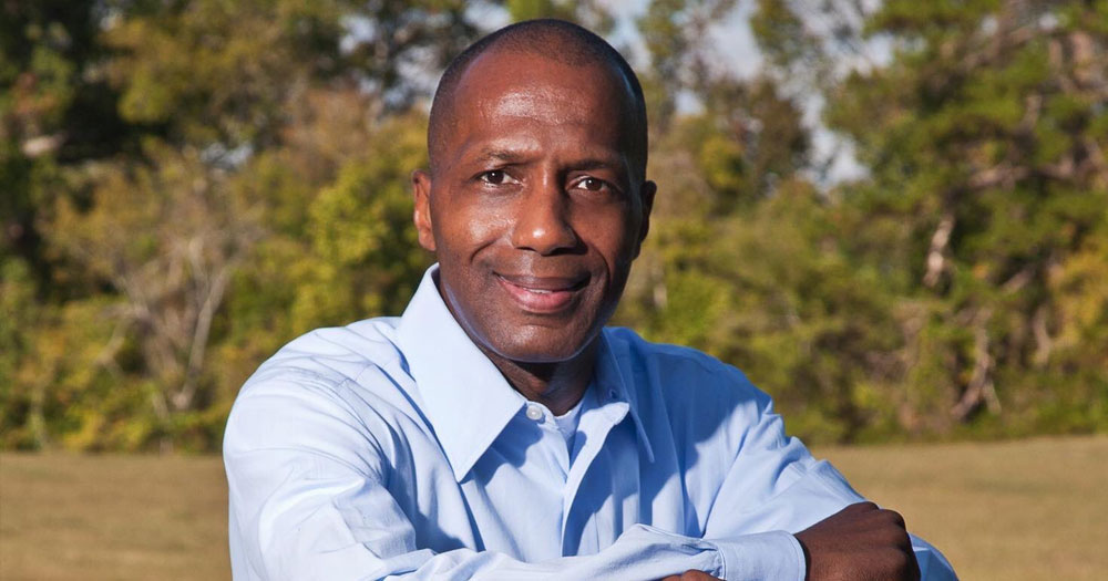 Midshot of James White, the Texas state Representative challenging same-sex marriage laws